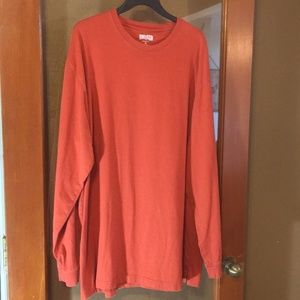 Duluth rust colored long sleeve casual shirt XL